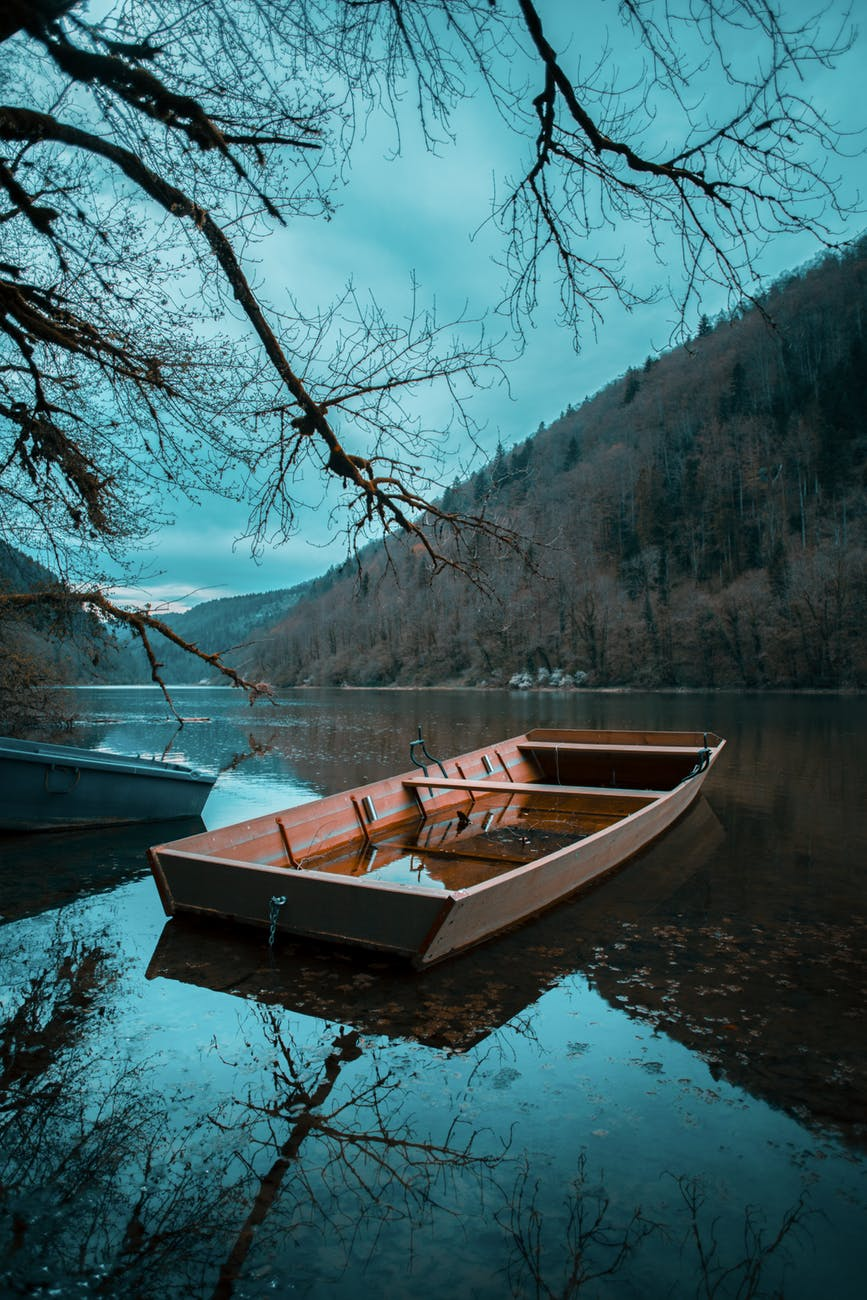 brown boat